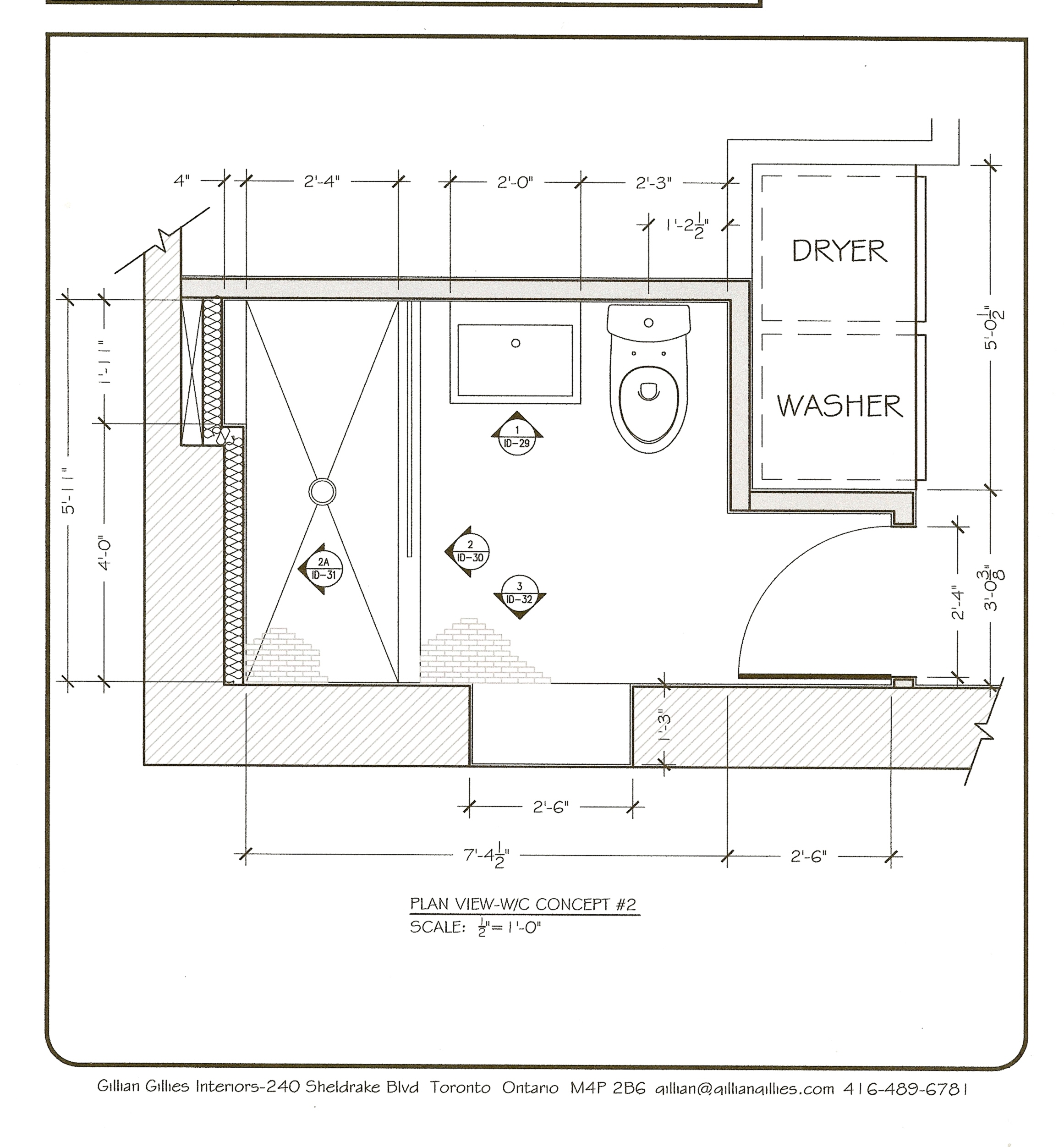 Project james basement shower room toronto interior Floor plan view